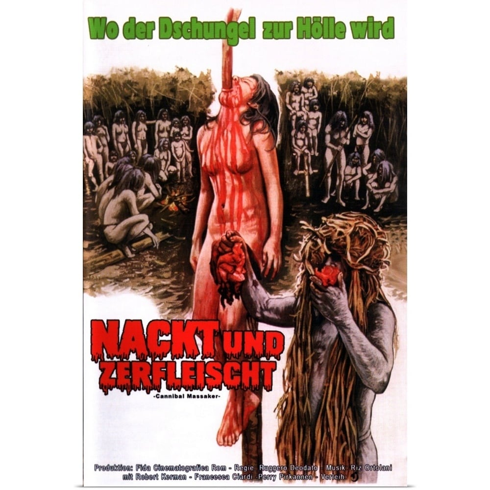 Poster Print entitled Cannibal Holocaust (1980) - Multi-color