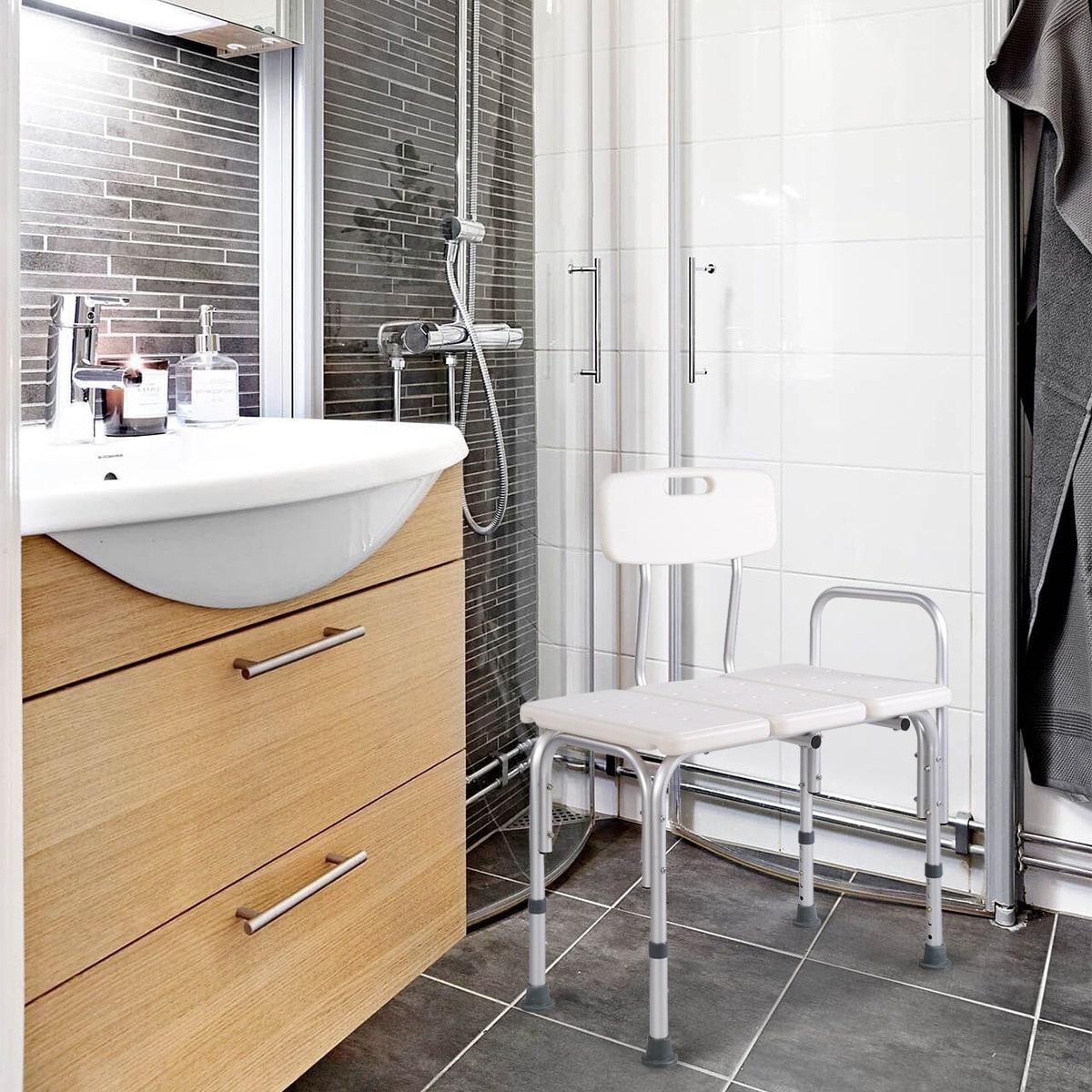 Costway Shower Bath Seat Medical Adjustable Bathroom Bath Tub ...