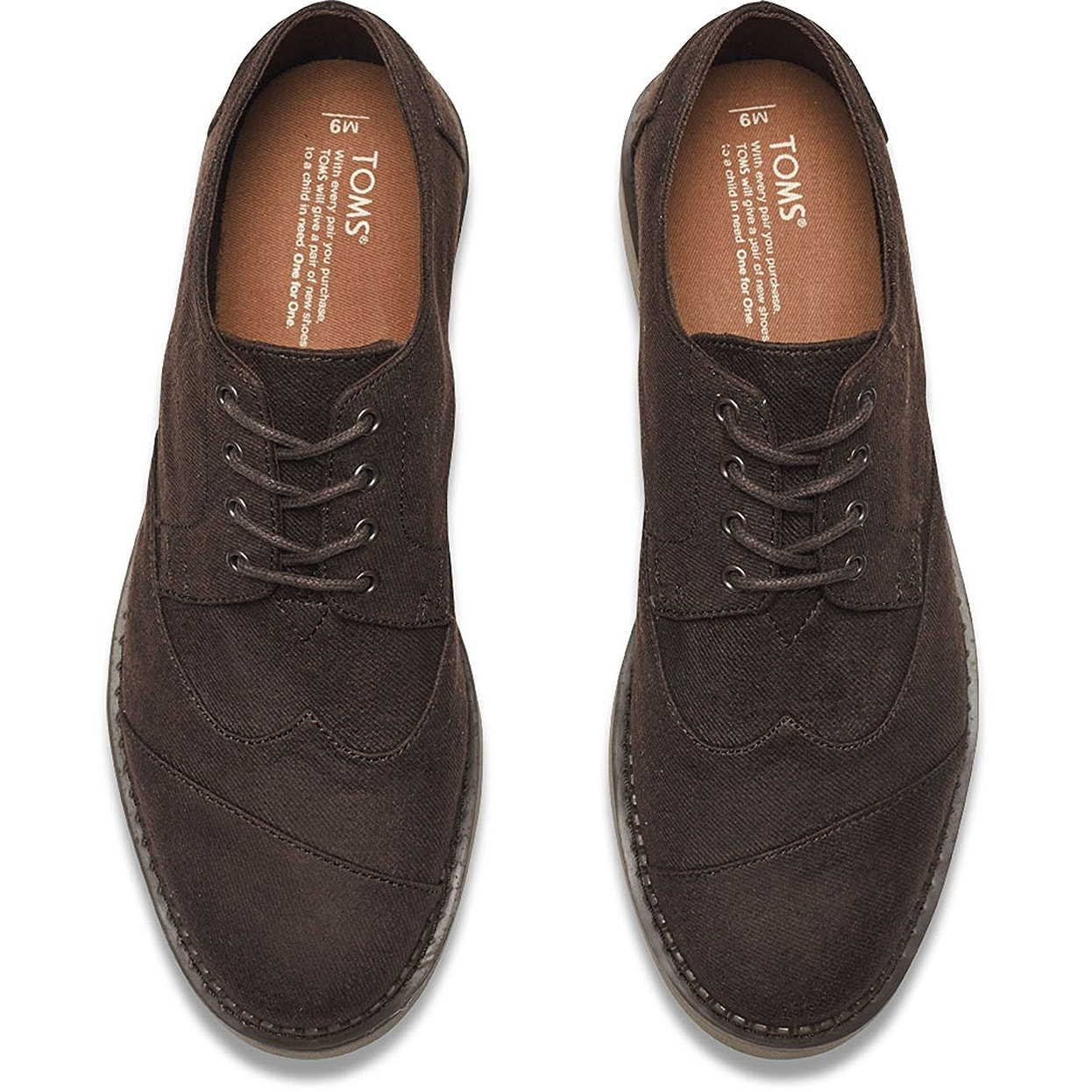 939dfb2af9c Shop Toms Aviator Twill Men s Brogues 10007000 - Free Shipping Today -  Overstock - 14179827