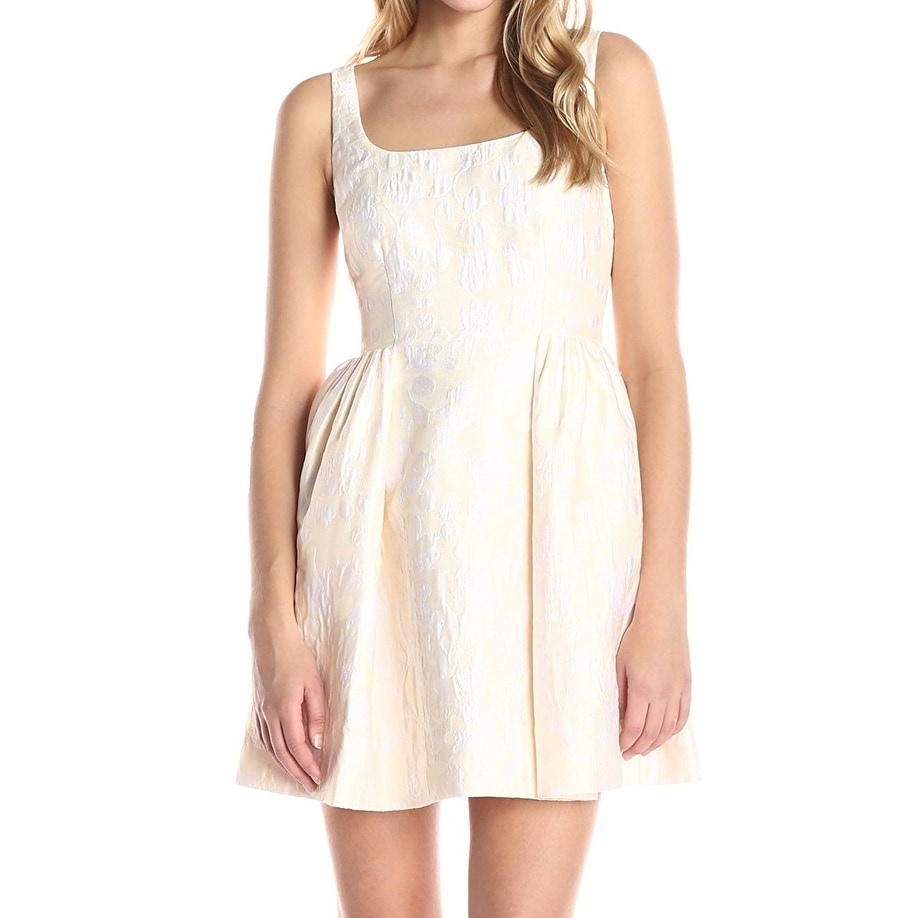 Cynthia Rowley Beige Womens Size 12 Fl Print A Line Dress Free Shipping Today 20342766