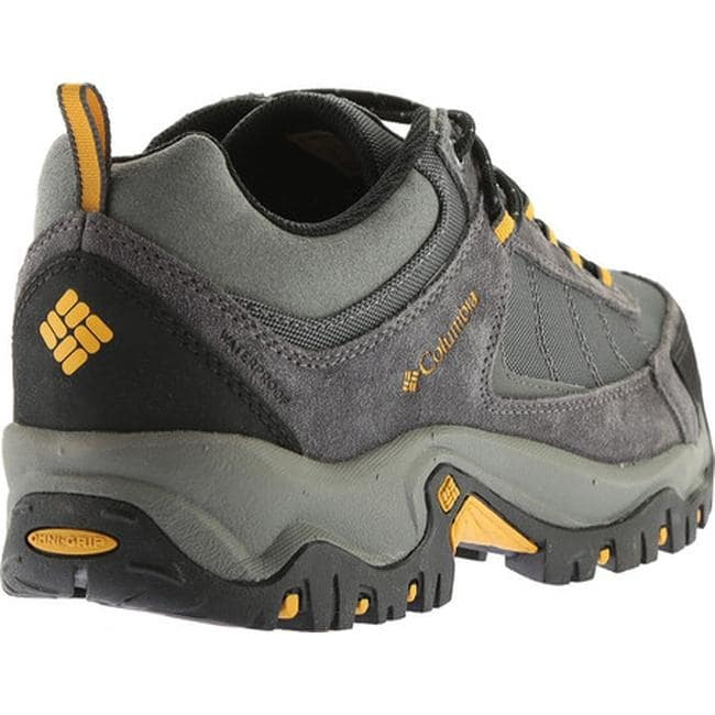 efcd2cd95cd8 Shop Columbia Men s Granite Ridge Waterproof Hiking Shoe Dark Grey Golden  Yellow - Free Shipping Today - Overstock - 18915818
