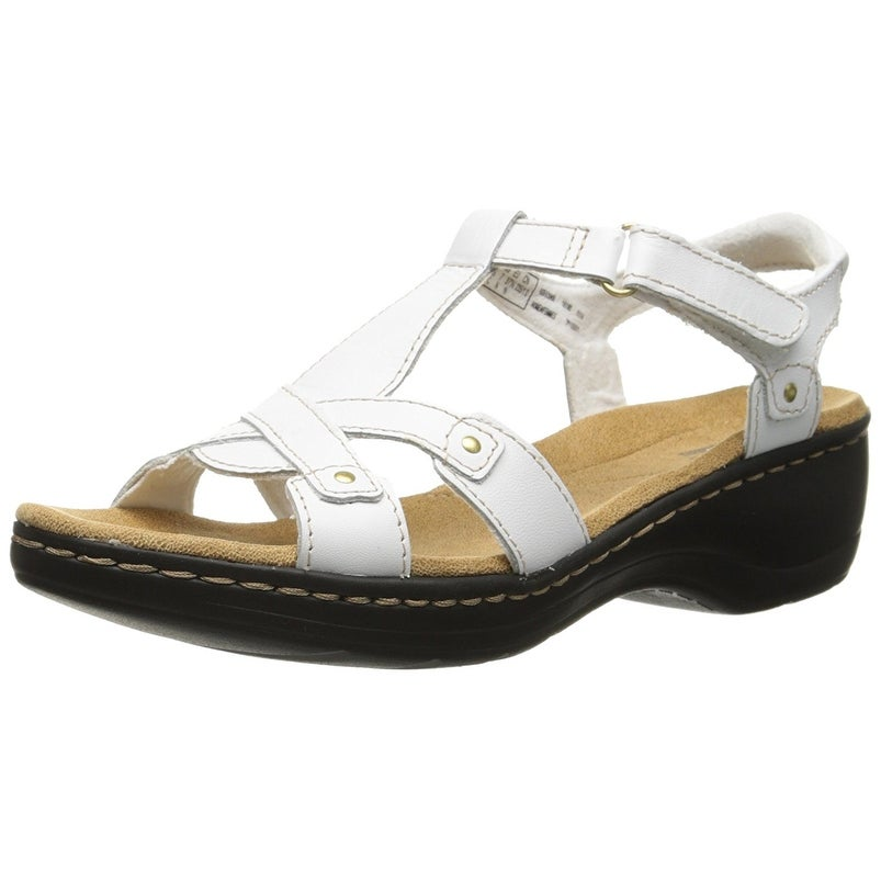 21aa689c9ee Shop Clarks Women s Hayla Flute Wedge Sandal - Free Shipping Today -  Overstock - 19289290