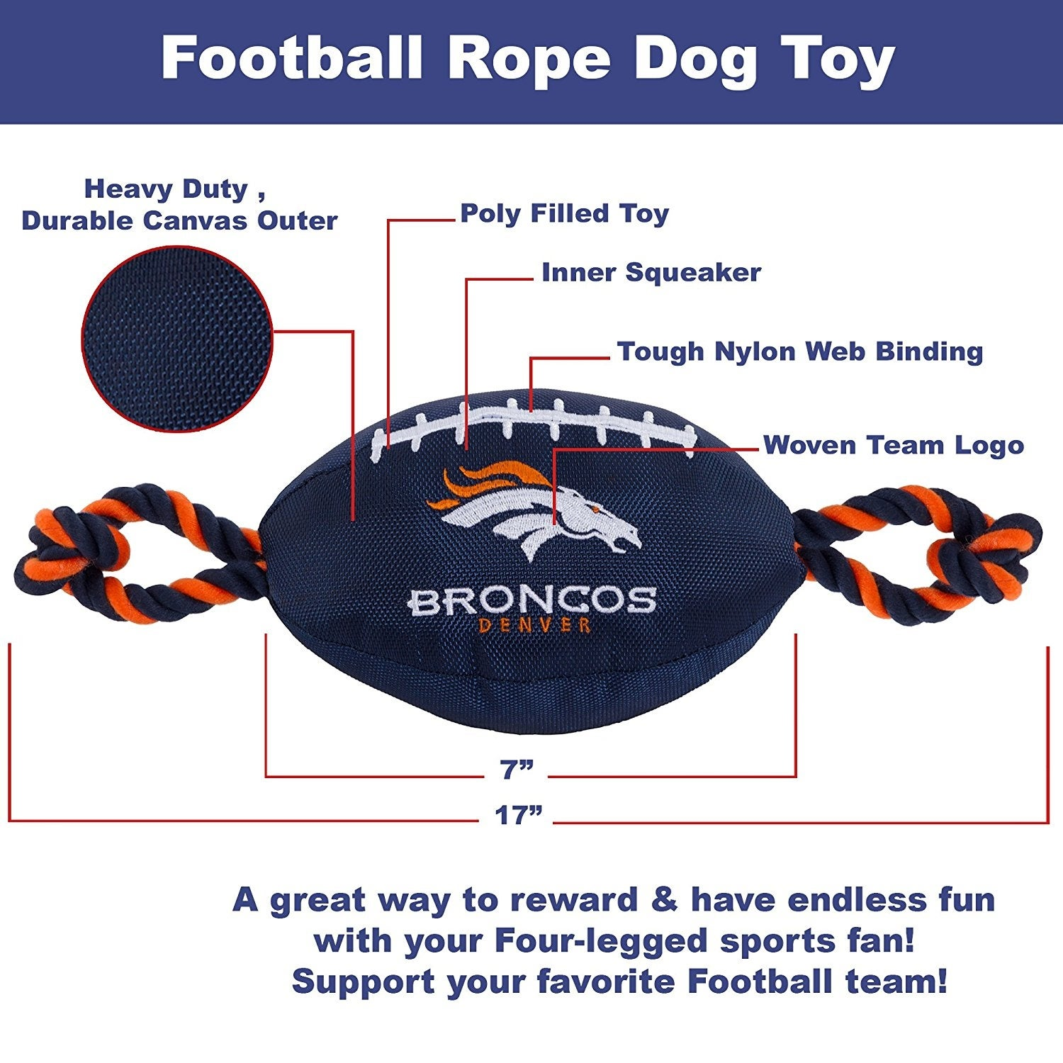 152046f2b41 Shop NFL Denver Broncos Nylon Football - On Sale - Free Shipping On Orders  Over $45 - Overstock - 19991497