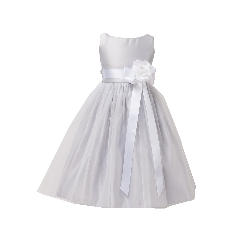 Shop Sweet Kids Girls Silver Tulle Satin Easter Junior Bridesmaid