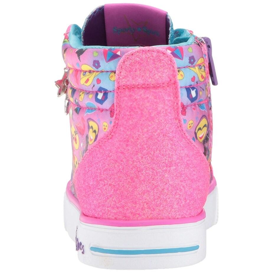 Skechers Kids Girls' Twinkle Breeze 2 0-Emoji Magi Sneaker,Multi,3 5 M Us  Big Kid