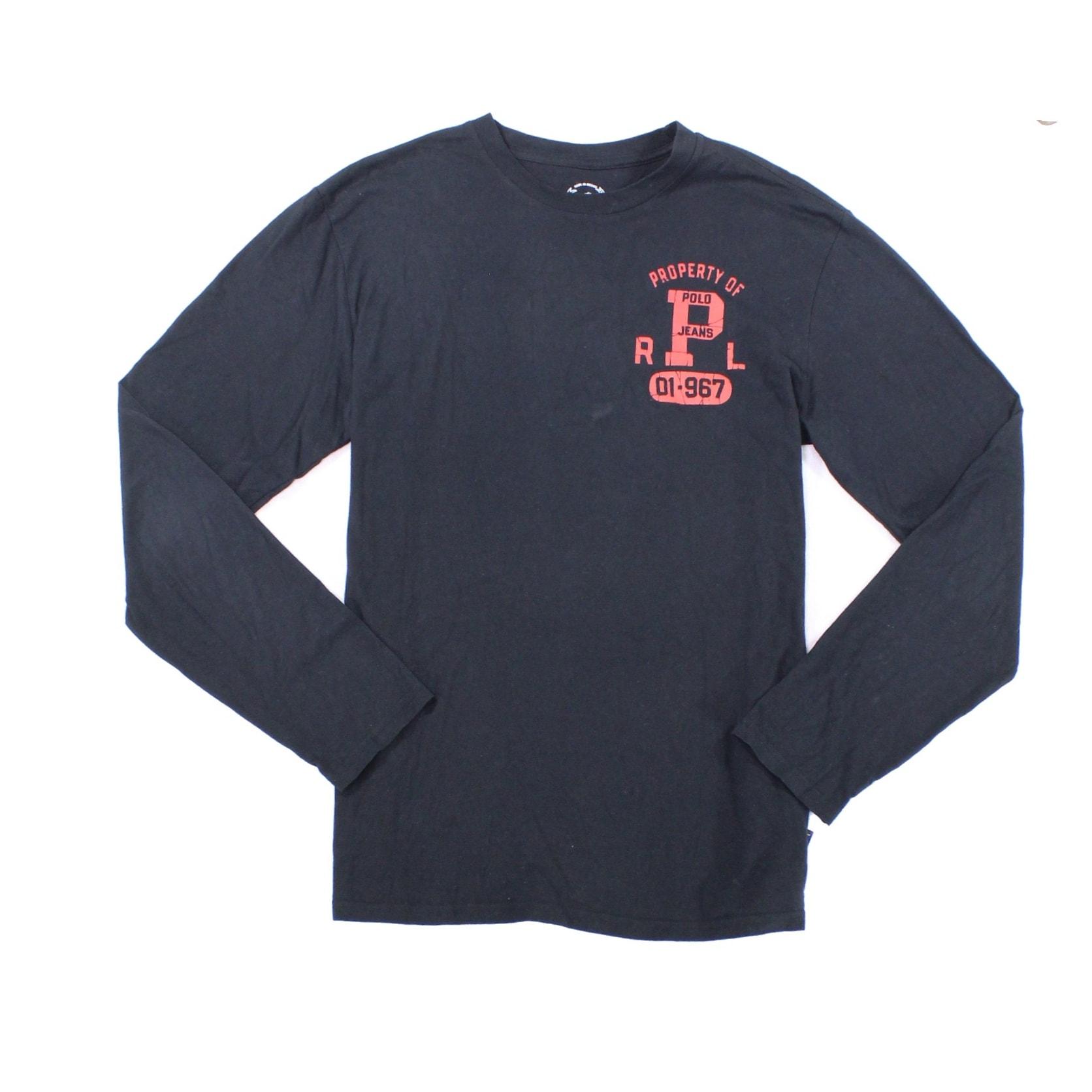 359d1c735a ... reduced shop polo ralph lauren new black mens size medium m property of  polo t shirt