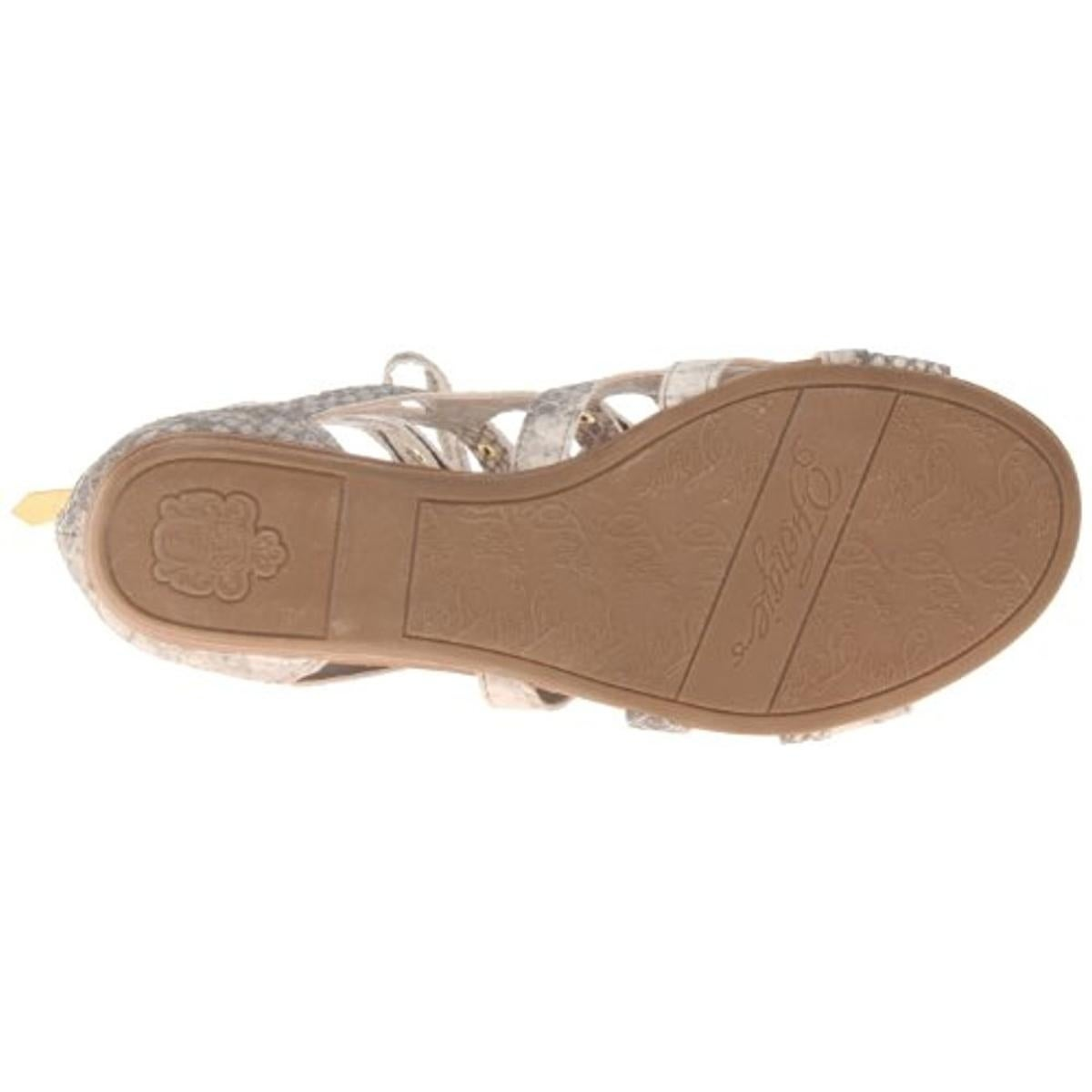 1f426466256f Shop Fergie Womens Glow Gladiator Sandals Leather Snake Print - 6.5 medium  (b