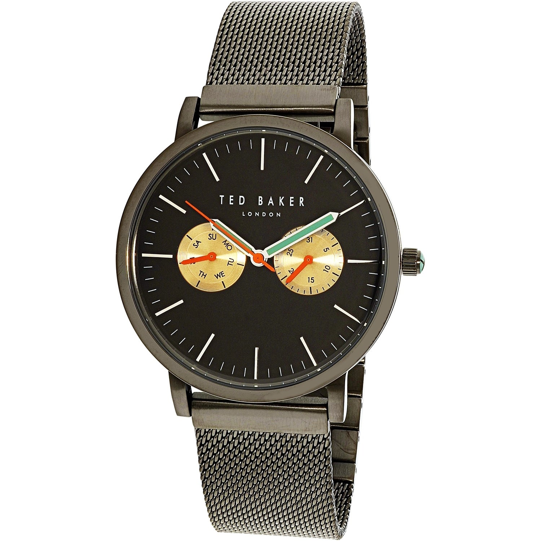 8af3664f9ff5 Shop Ted Baker Men s Brit Black Stainless-Steel Quartz Fashion Watch ...