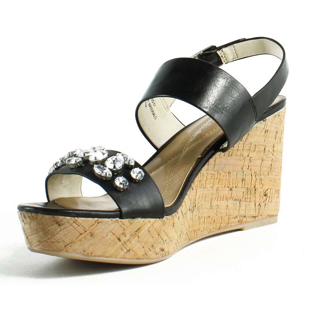 68281bf17cb Shop Andrew Geller Womens Destin Black Ankle Strap Heels Size 6.5 - On Sale  - Free Shipping On Orders Over  45 - Overstock.com - 23132148