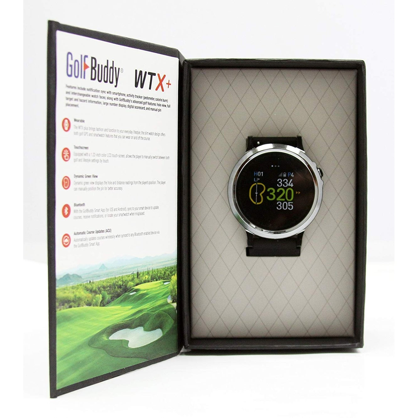Golf Buddy GB9 WTX+ Smartwatch Golf GPS Black