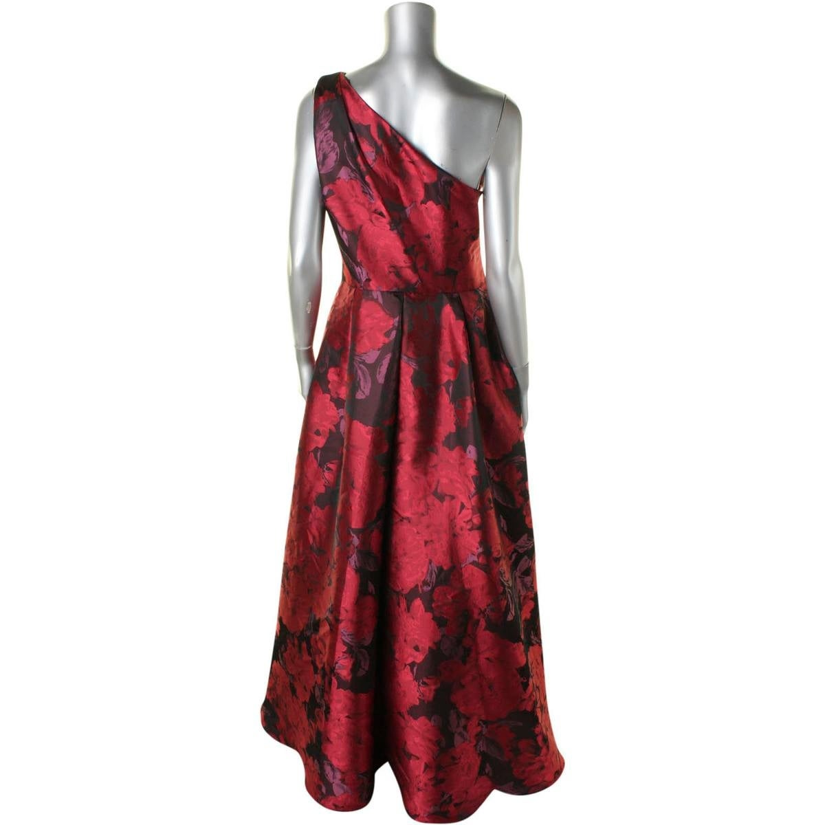 dbfdce13b6 Shop Carmen Marc Valvo Womens Evening Dress One Shoulder Floral - Free  Shipping Today - Overstock - 19852461