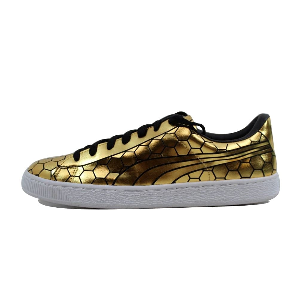 buy popular 772ca e904e Shop Puma Men s Basket Classic Metallic Gold nan 361102 01 - On Sale - Free  Shipping On Orders Over  45 - Overstock - 22919215