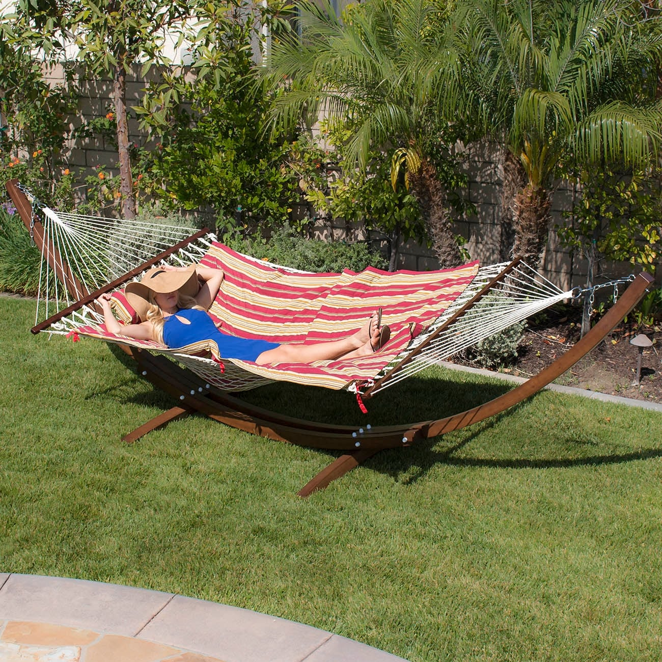 hammock swing kd solid sunshade stand roof product canopy with on design wooden garden buy detail