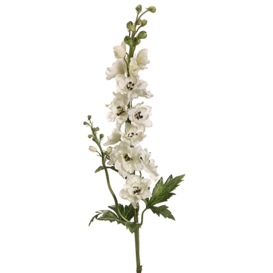 Club Pack Of 12 Artificial Cream Delphinium Silk Flower Sprays 35