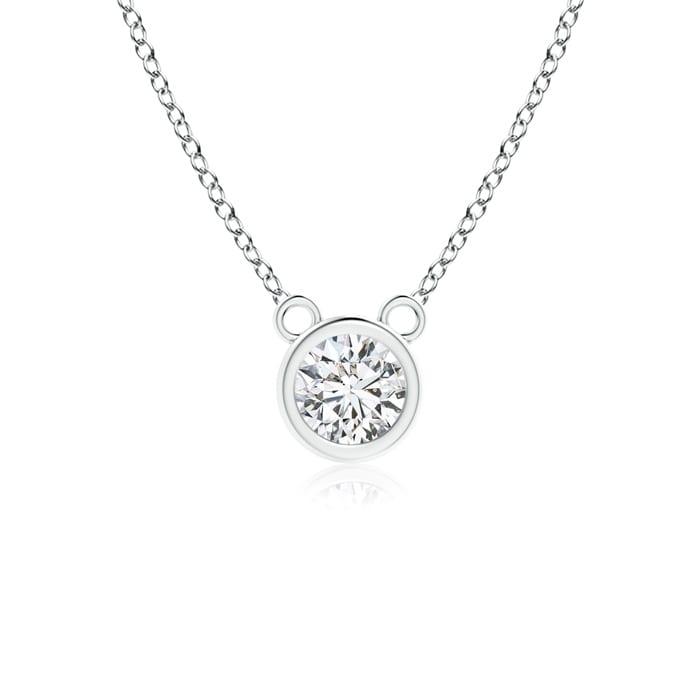 Angara Bezel-Set Diamond Seven Stone Necklace NkxSfFpa