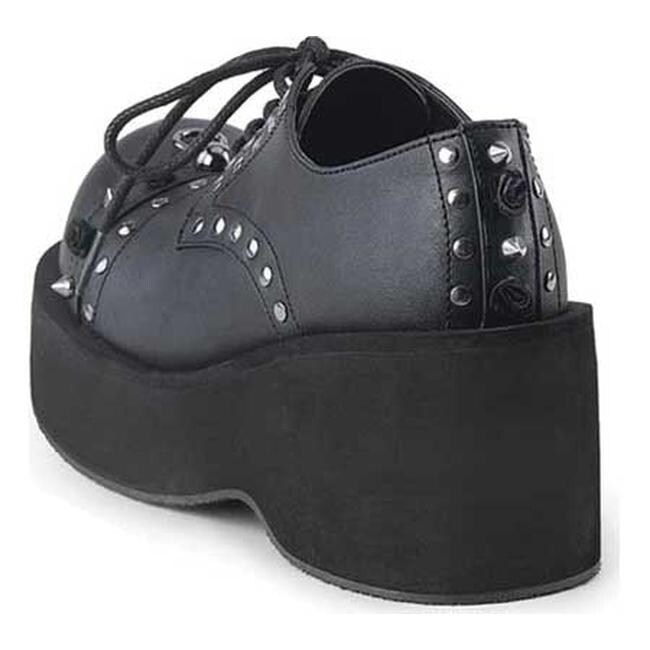 da6881c81224 Shop Demonia Women s Dank 110 Platform Oxford Black Vegan Leather - Free  Shipping Today - Overstock - 17142383