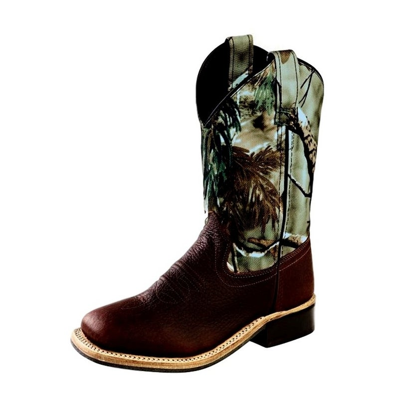 f594b80c0b6 Old West Cowboy Boots Boys Girls Kid Camo Square Thunder Oiled