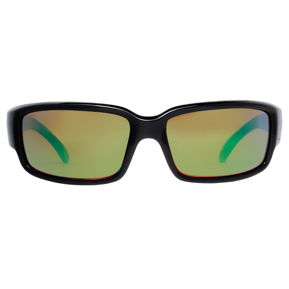 733431c4461 Shop Costa Del Mar Caballito CL11 OGMGLP Black Green Mirror Polarized 580G  Sunglasses - Shiny Black - 59mm-17mm-134mm - Free Shipping Today - Overstock  - ...