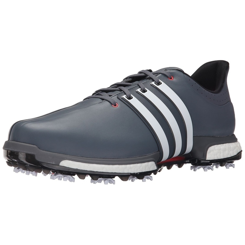 Shop Adidas Men s Tour 360 Boost Onix White Shock Red Golf Shoes F33253    F33265 (Medium Width) - Free Shipping Today - Overstock - 18696317 27e1f44d5