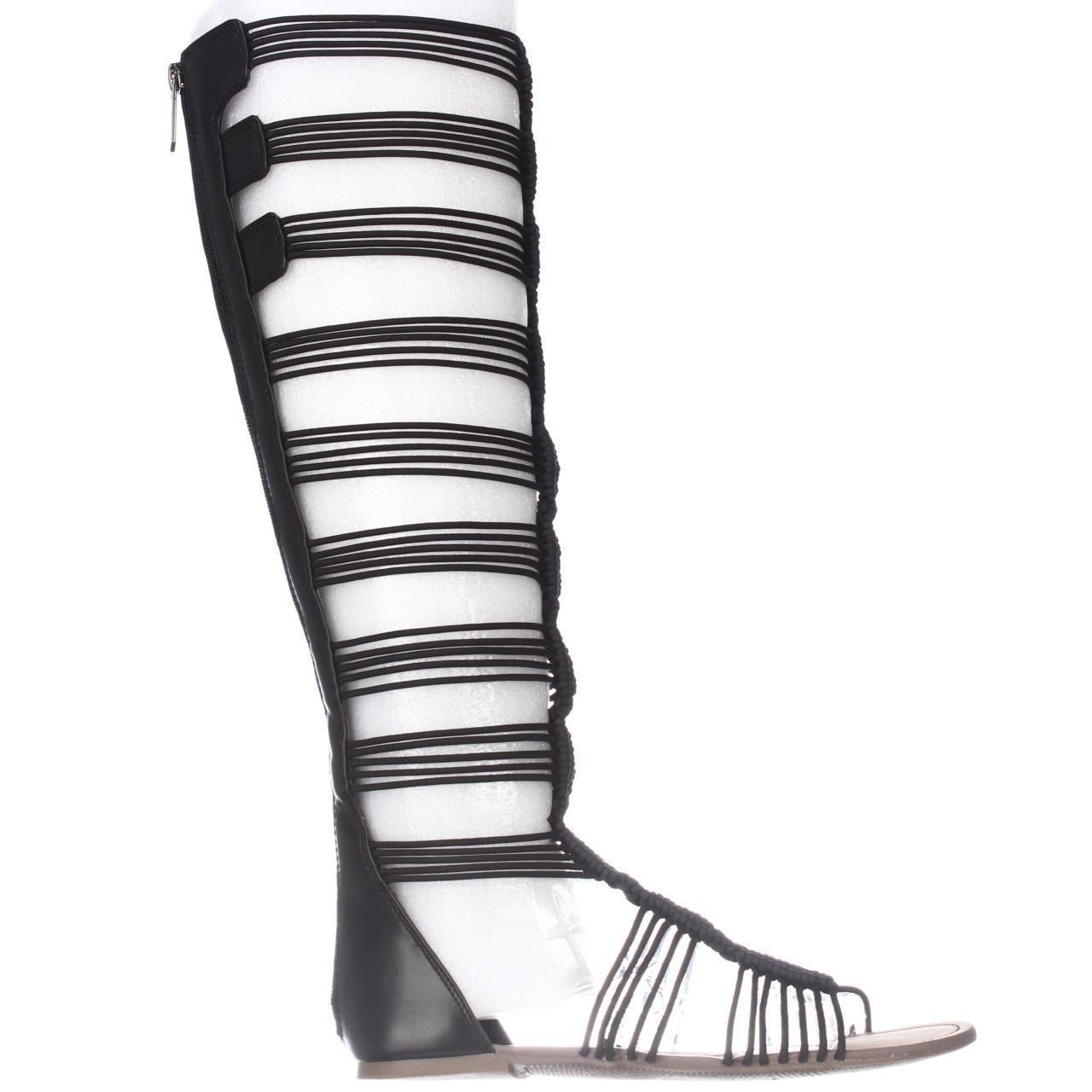4053c2216e9 Shop Circus by Sam Edelman Badger Knee High Gladiator Sandals - Black -  Free Shipping Today - Overstock - 14615172