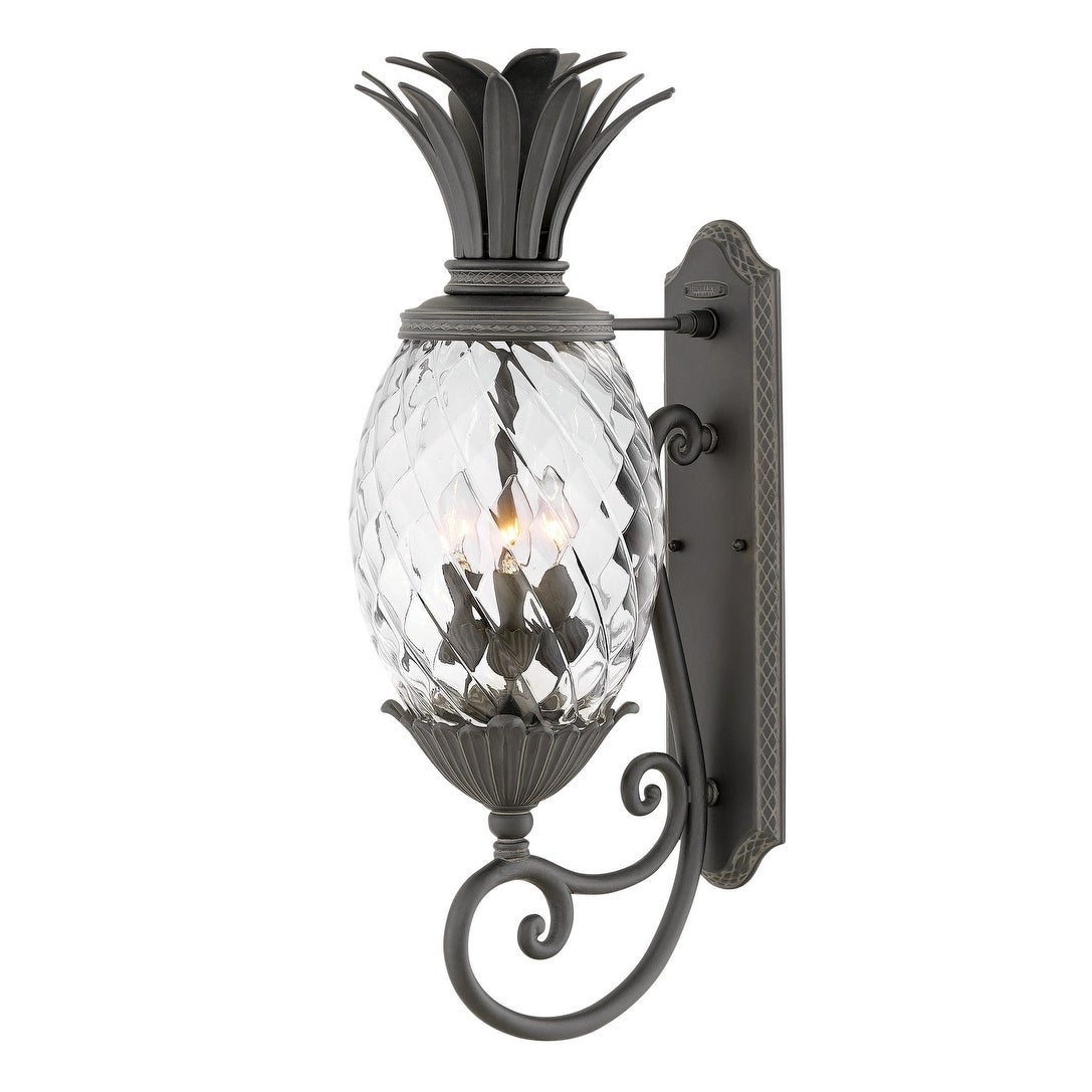 Hinkley lighting 2124 plantation 3 light 28 tall outdoor wall sconce