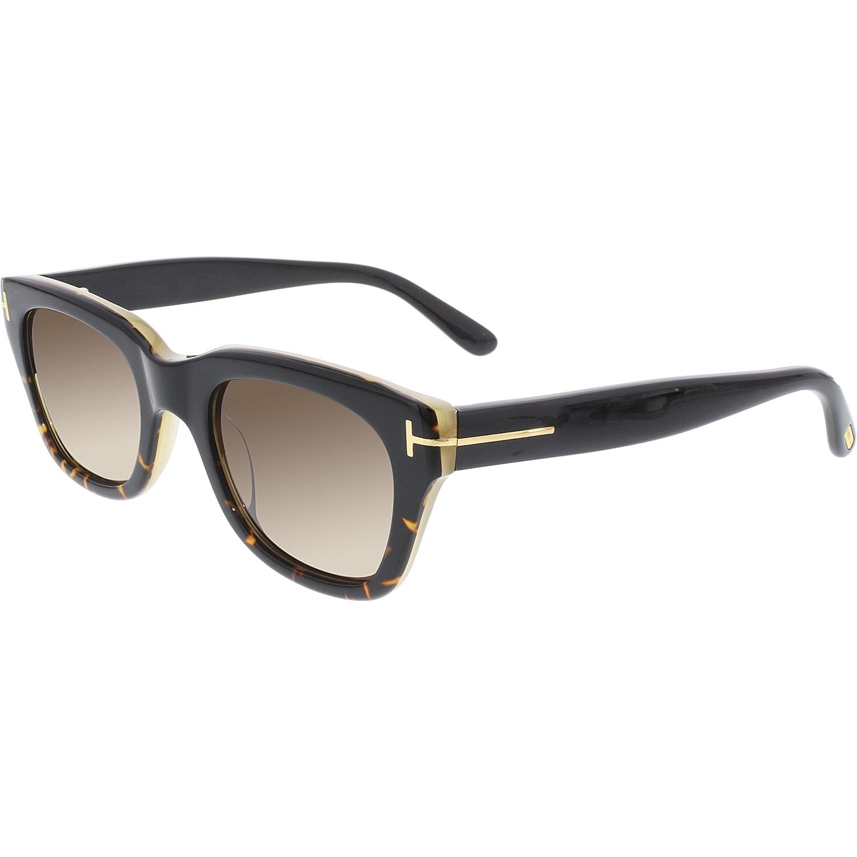 acb9a95e28 Shop Tom Ford Men s Snowdon FT0237-05J-50 Black Square Sunglasses ...