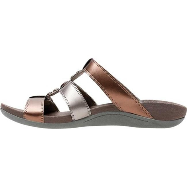 f0001ed6f560 Shop Clarks Women s Pical Cusick Strappy Slide Metallic Multi Synthetic -  Free Shipping Today - Overstock - 20702518