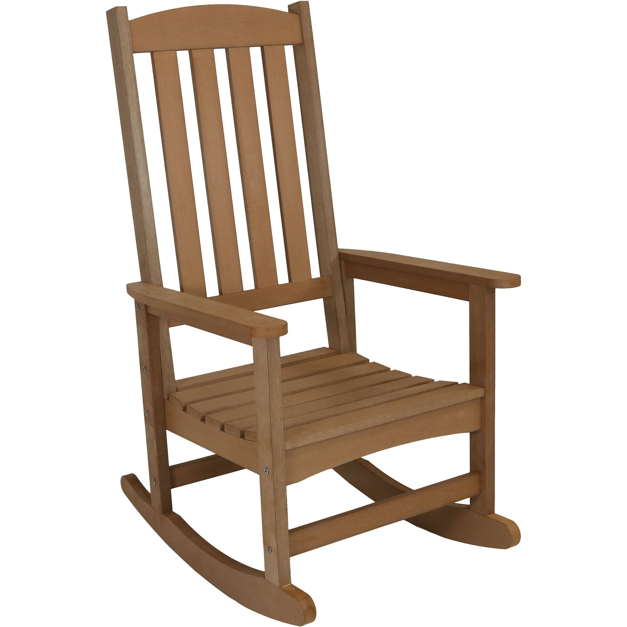 Shop sunnydaze all weather rocking chair with faux wood design multiple colors free shipping today overstock com 22966931