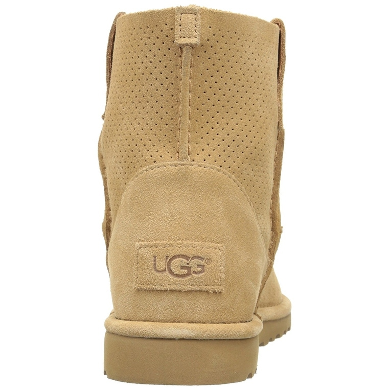 32abcbb4670 Ugg Womens Classic Unlined Mini Perforated Leather Closed Toe Ankle...