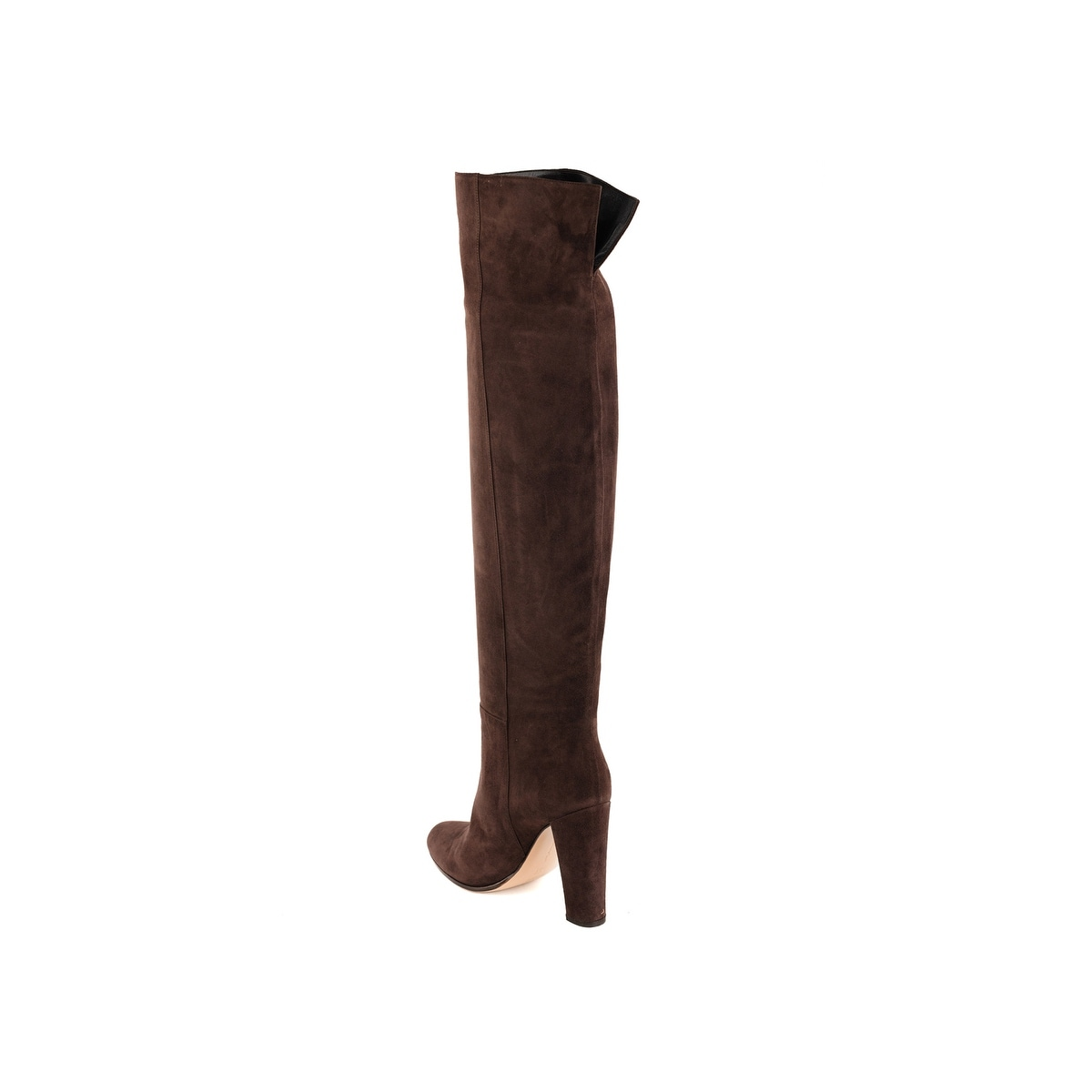 bc4c2208704e Shop Gianvito Rossi Womens Dark Brown Suede Over the Knee Boots ...