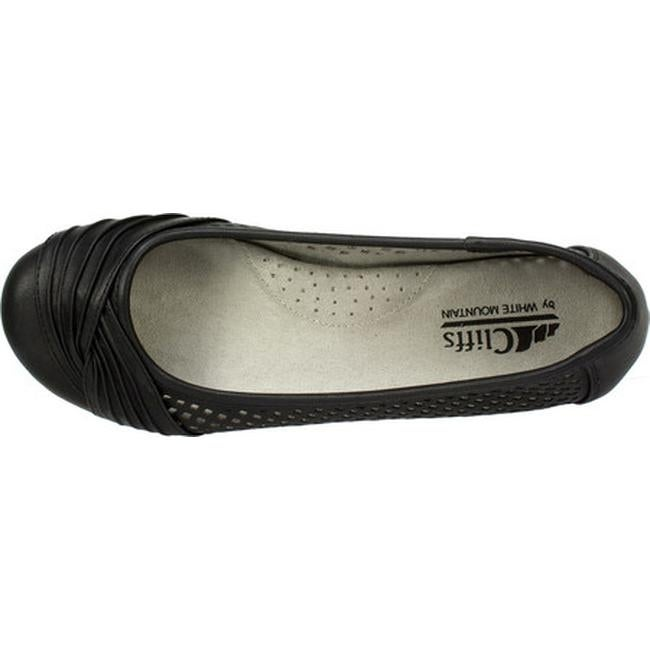 3c4ab62193fbc2 Shop Cliffs by White Mountain Women s Harlyn Perforated Flat Black  Burnished Smooth Polyurethane - On Sale - Free Shipping On Orders Over  45  ...