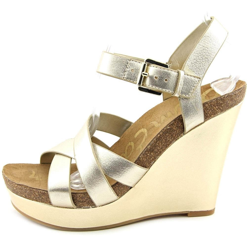 1d7d319739b6 Shop Sam Edelman Nelson Women Open Toe Leather Wedge Sandal - Free Shipping  On Orders Over  45 - Overstock - 13642419
