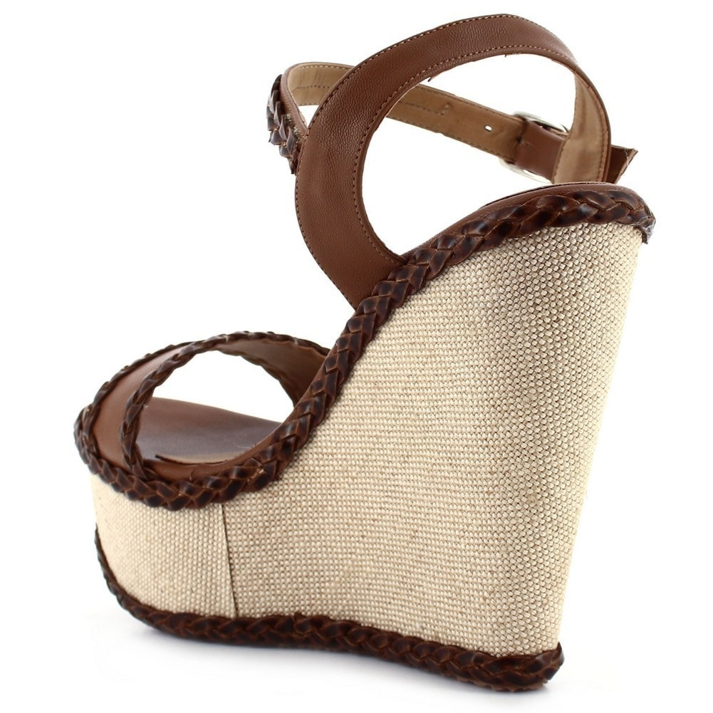 318981c183fa Shop Ceresnia Adult Brown Ankle Strap Closure Wedge Trendy Sandals - Free  Shipping Today - Overstock - 18823712