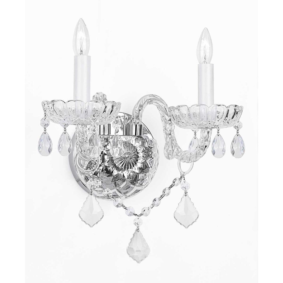 Swarovski Elements Crystal Trimmed Wall Sconce Venetian Style