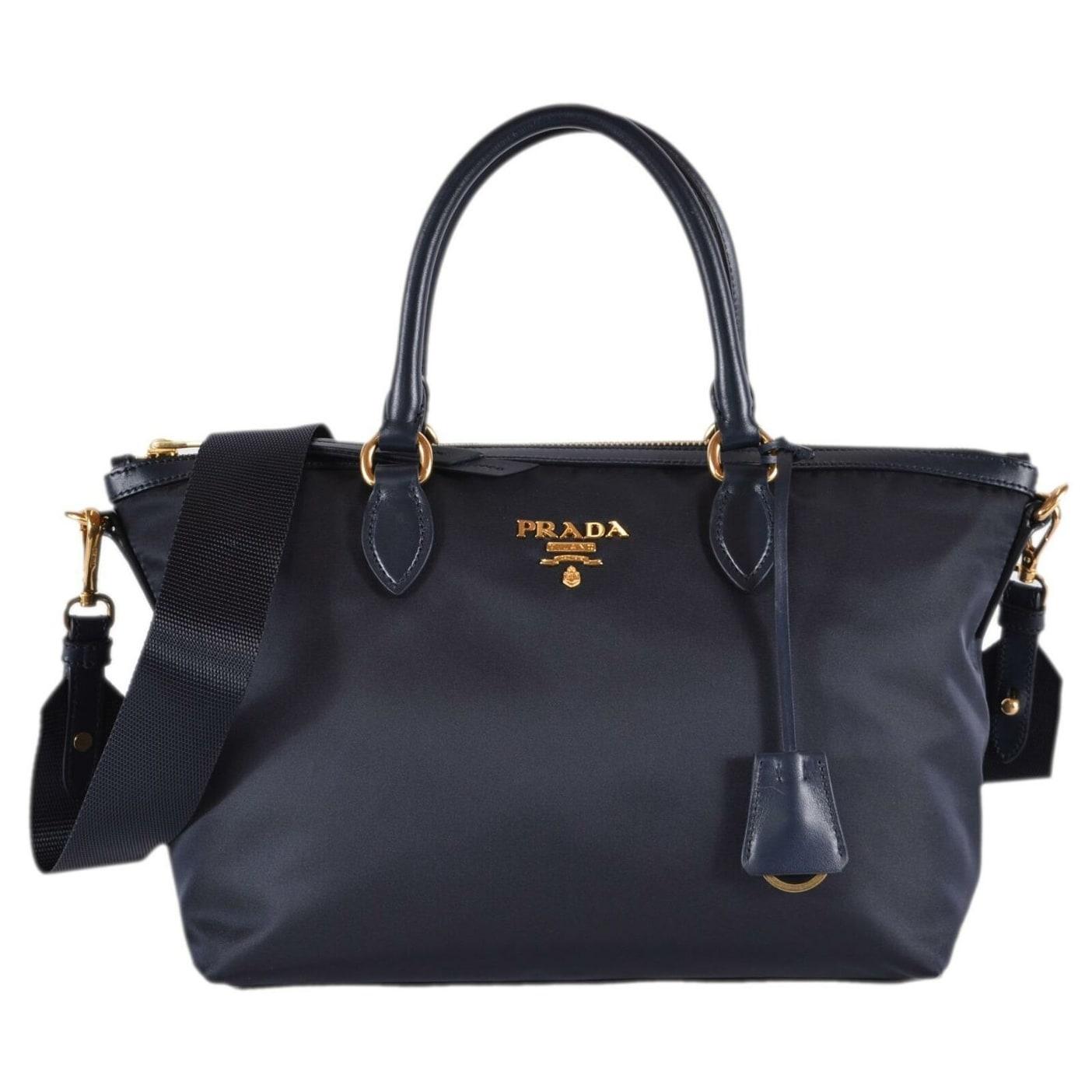 741526f41deb5d Shop Prada 1BA104 Borsa A Mano Blue Nylon 2-Way Zip Purse Handbag ...