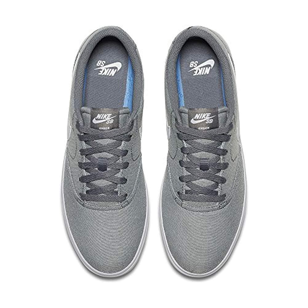 726771c1c6e9 Shop Nike 843896-003  Sb Check Solar Canvas Mens Cool Grey White Sneakers  (12 D(M) Us) - Free Shipping Today - Overstock - 25596561