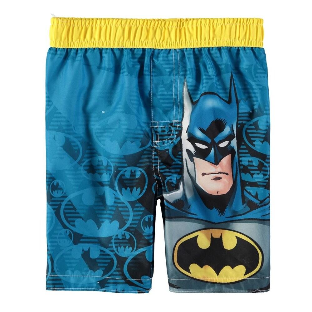 9d1f05383d Shop DC Comics Boys 2T-4T Batman Swim Trunk - Blue - Free Shipping On  Orders Over $45 - Overstock - 21691036