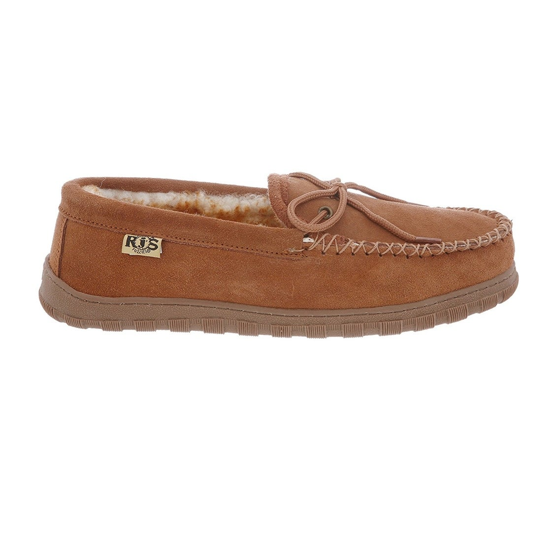 ad13382bdea Shop RJ s Fuzzies Mens Sheepskin Leather Lined Moccasins - Free Shipping  Today - Overstock - 14111058