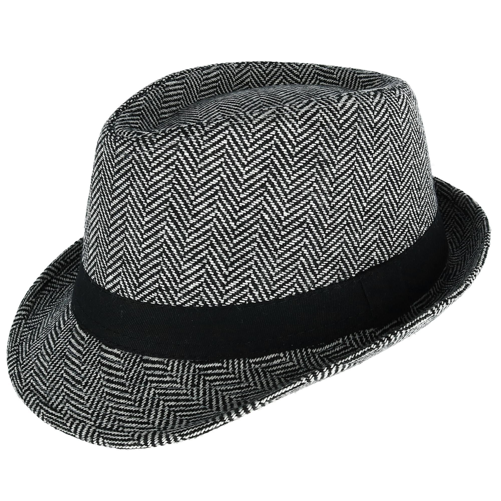 d1f9b3a86 Westend Men's Herringbone Trilby Fedora Hat