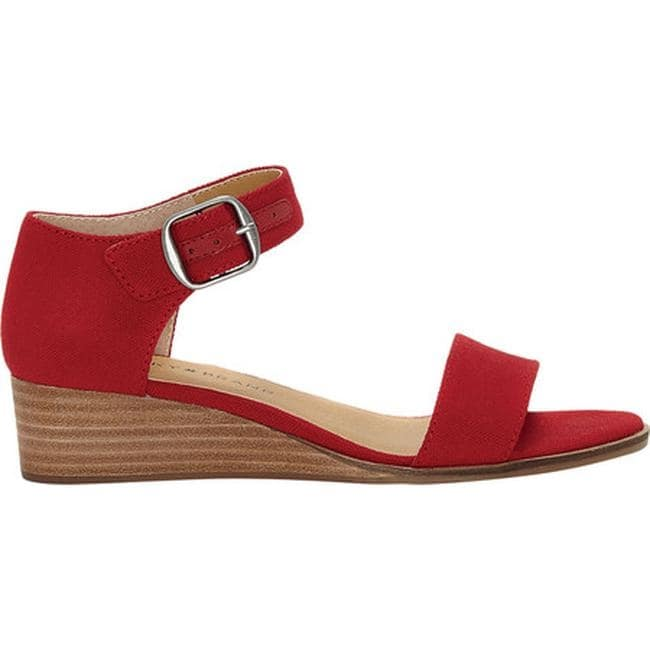 bbfff8b40a Shop Lucky Brand Women's Riamsee Wedge Sandal Red Textile - Free Shipping  Today - Overstock - 22863856