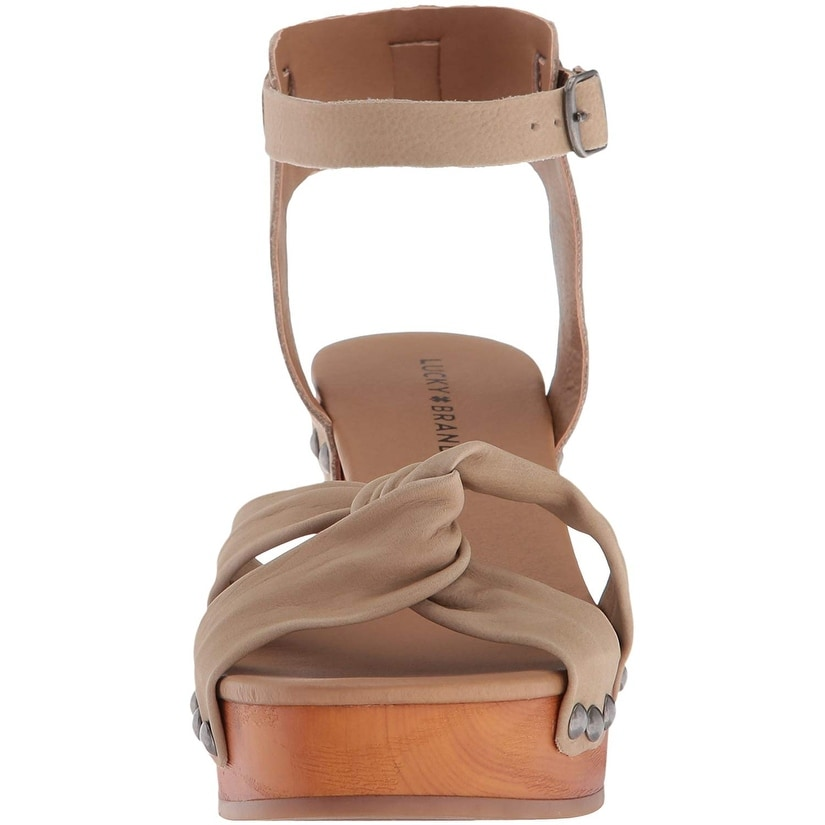 01759e9eeb6 Shop Lucky Brand Women s Whitneigh Heeled Sandal - Free Shipping On Orders  Over  45 - Overstock - 24305958