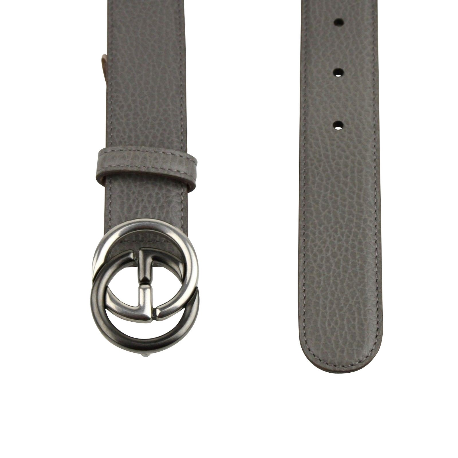 7add09f9470 Shop New Gucci Men s Grey Leather Belt with GG Buckle 295704 1226 - Free  Shipping Today - Overstock - 25452903