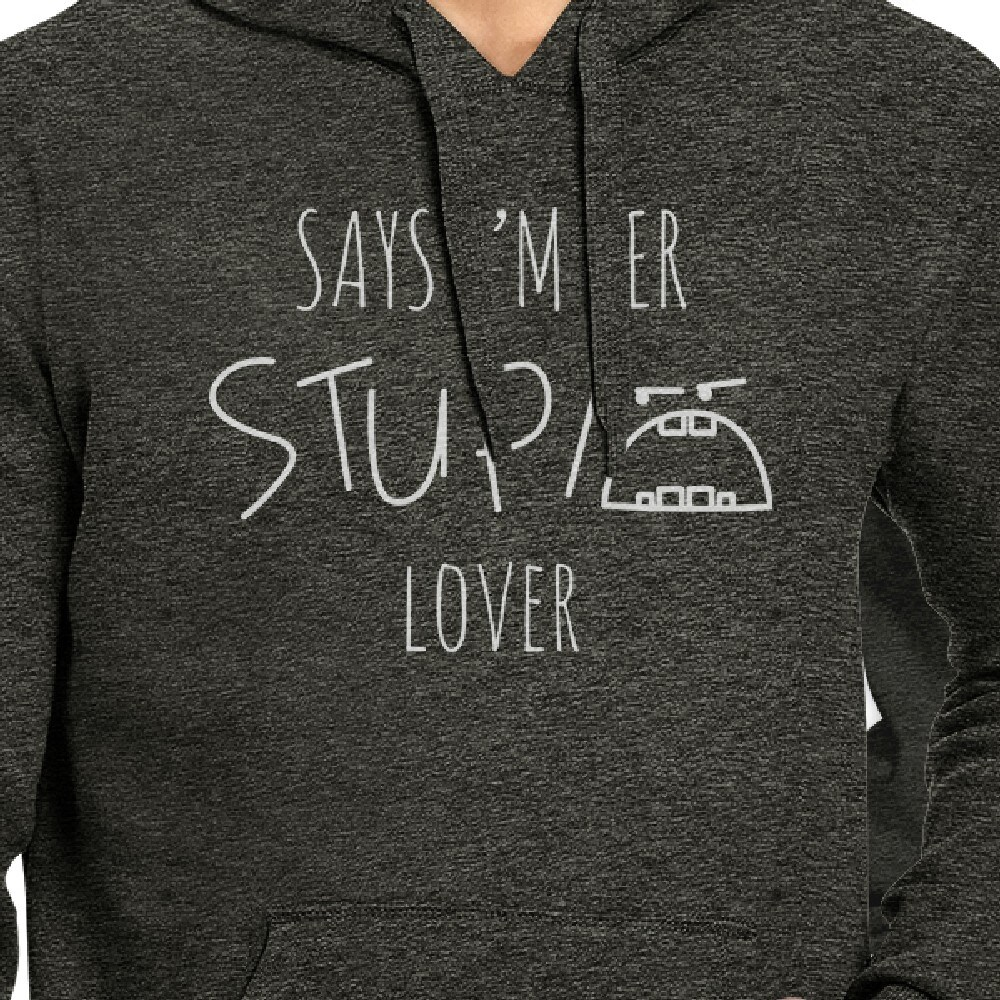 ea74879084 Shop Stupid Lover Dark Grey Cute Matching Couple Gift Hoodies Pullover -  Free Shipping Today - Overstock - 18002634