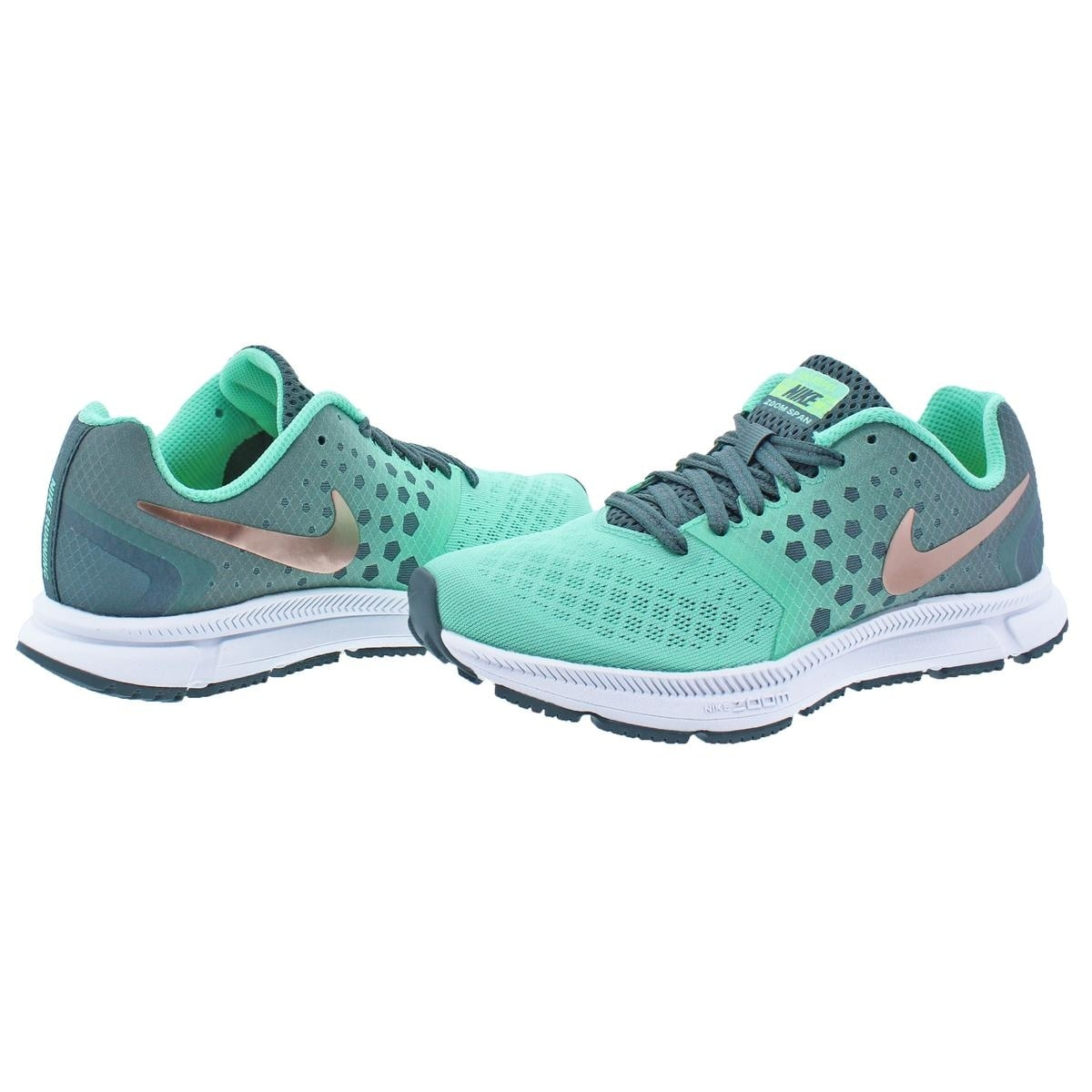 Shop Nike Womens Zoom Span Shield Running Shoes H2o Repel Dynamic Women Pink Support Free Shipping Today 22123612