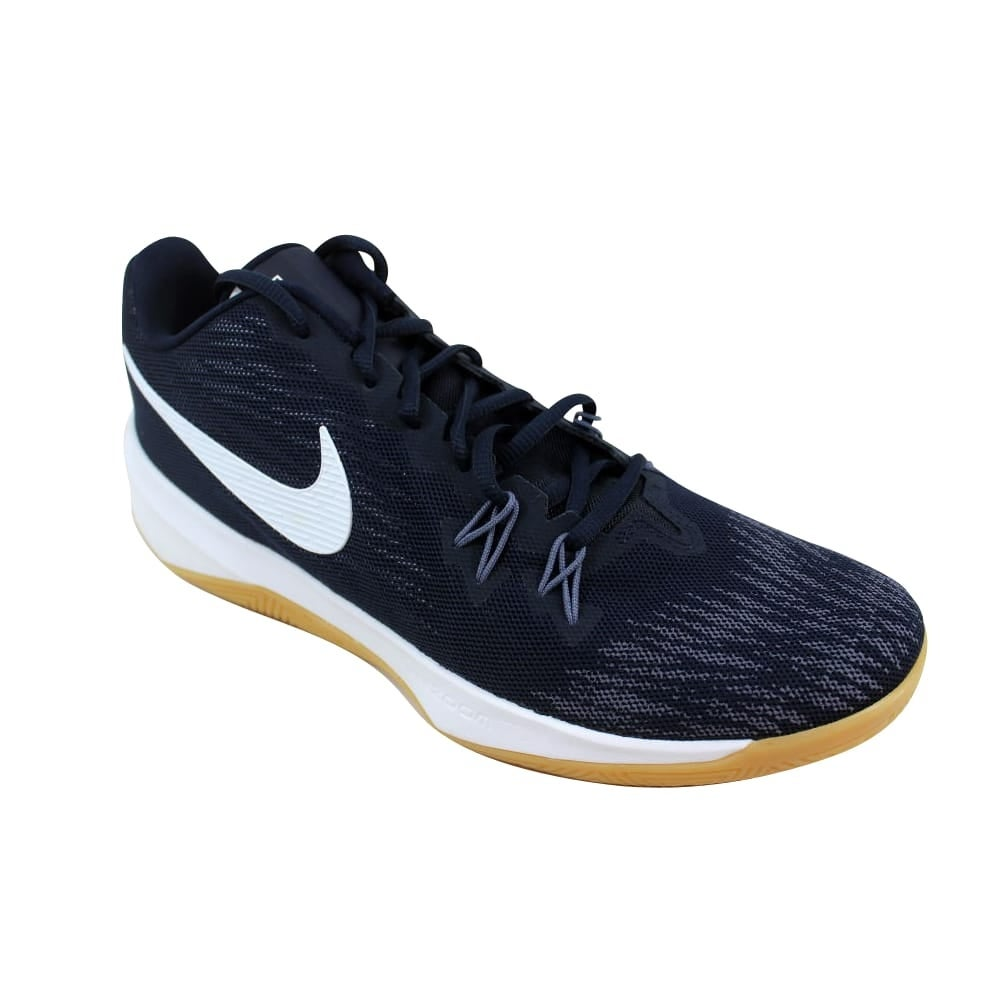 1dc27698a5f3 Shop Nike Zoom Evidence Dark Obsidian White 908976-400 Men s - Free  Shipping Today - Overstock - 27339314