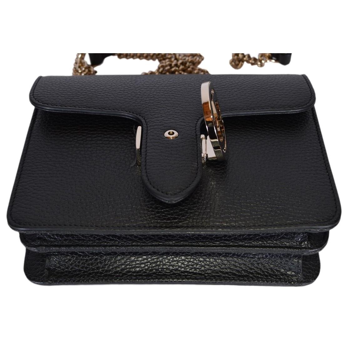 c525e8a19b9 Shop Gucci Women s Black Leather 510304 Interlocking GG Crossbody Purse  Handbag - 7.75