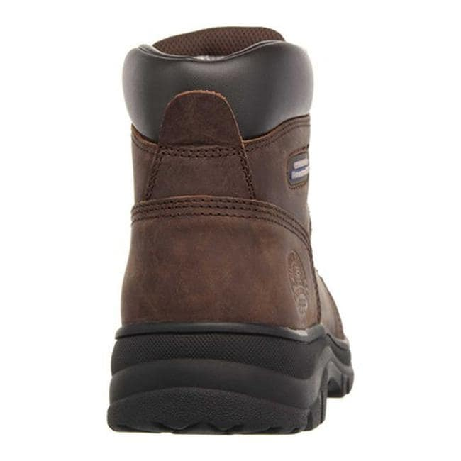 9e8afcbe956 Skechers Women's Work Relaxed Fit Workshire Peril Steel Toe Dark Brown