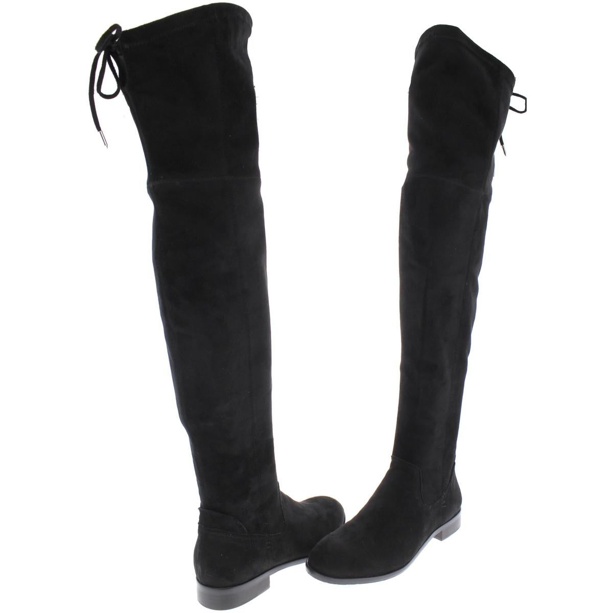 c6ce0a84b4a Shop Dolce Vita Womens Neely Over-The-Knee Boots Faux Suede Round Toe -  Free Shipping Today - - 21480765