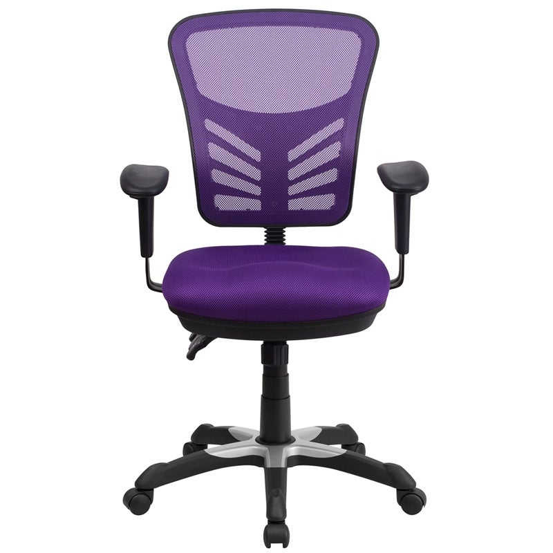 Shop Brielle Mid Back Purple Mesh Executive Swivel Chair W/Adj Arms   Free  Shipping Today   Overstock.com   16627825