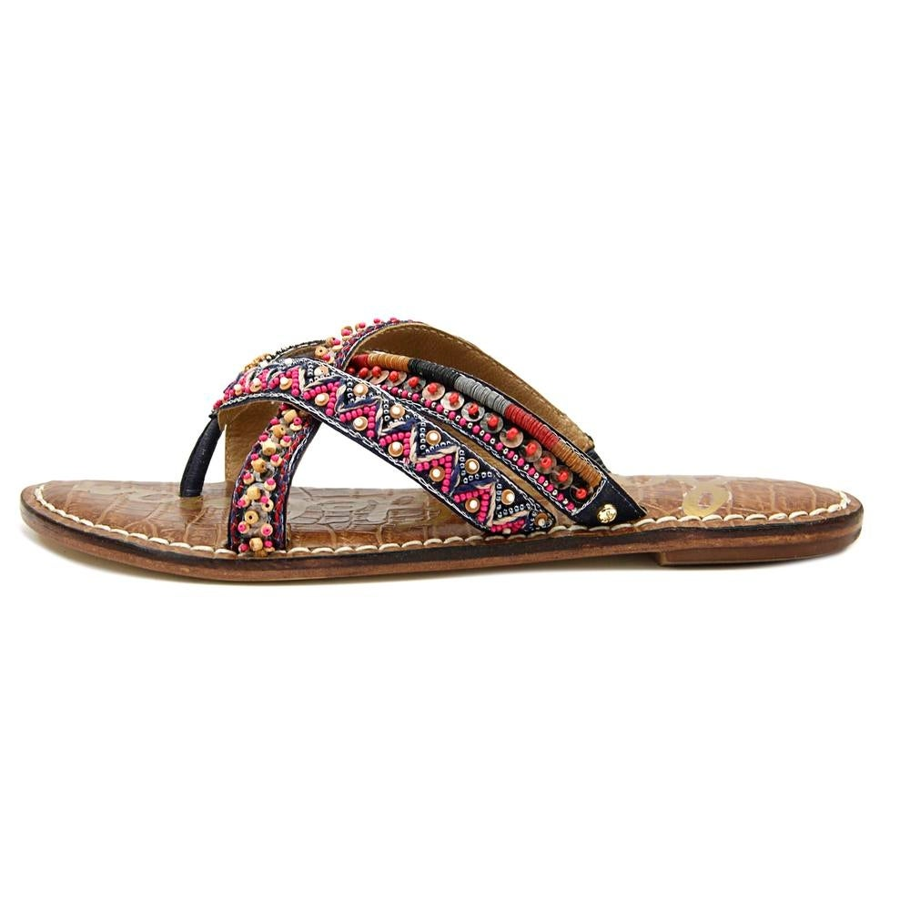 29727b64000d Shop Sam Edelman Karly Women Open Toe Canvas Multi Color Thong Sandal -  Free Shipping On Orders Over  45 - Overstock - 19430405